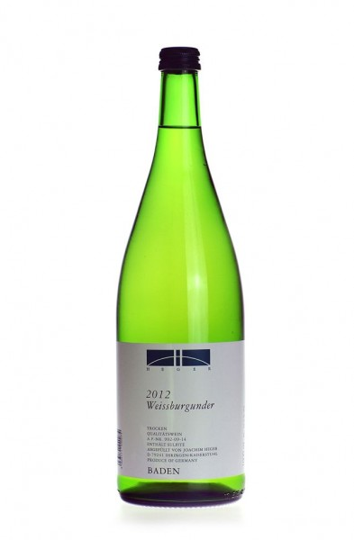 Heger Weissburgunder QbA trocken Liter 2016