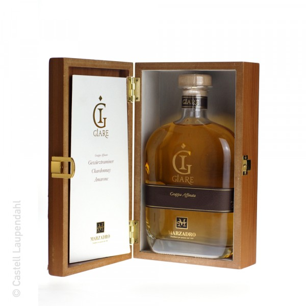 Marzadro Giare Grappa Chardonnay 0.70l 45% Holzkiste